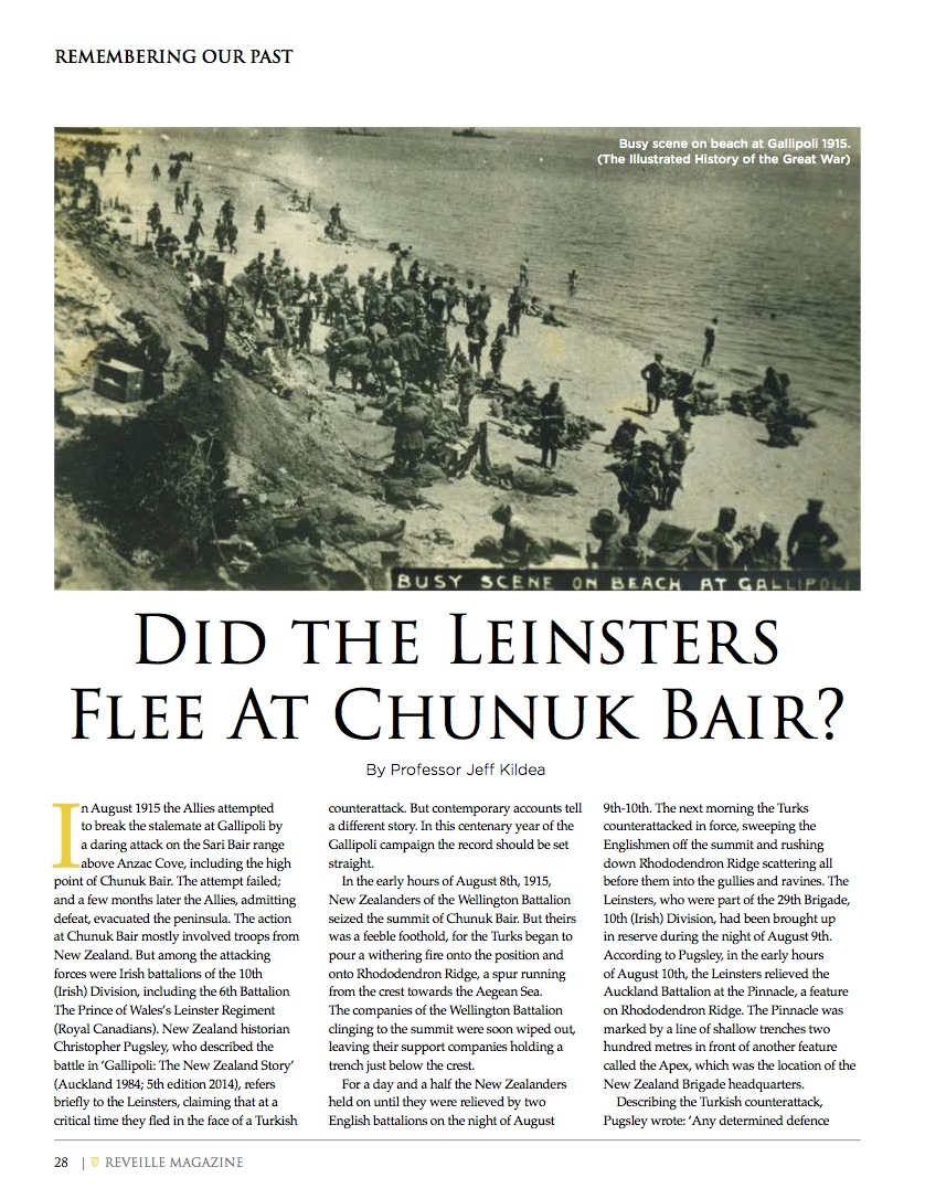 Kildea - Did the Leinsters Flee at Chunuk Bair? (2015)